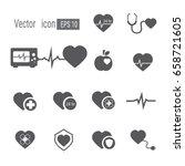heart medical icon. icon heart... | Shutterstock .eps vector #658721605