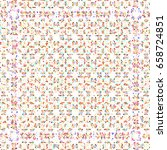 colorful mosaic pattern for... | Shutterstock . vector #658724851