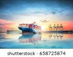 logistics and transportation of ... | Shutterstock . vector #658725874