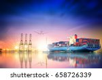 logistics and transportation of ... | Shutterstock . vector #658726339