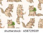seamless pattern   funny... | Shutterstock . vector #658729039