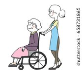 elderly care service concept... | Shutterstock .eps vector #658731865