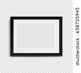 blank photo frame on the wall.... | Shutterstock .eps vector #658735945