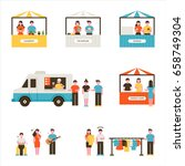 mini store flea market vector...   Shutterstock .eps vector #658749304