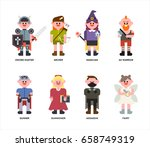 game character vector... | Shutterstock .eps vector #658749319