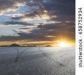 sunset asphalt asphalt tire...   Shutterstock . vector #658752934