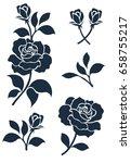 flower motif sketch for design   Shutterstock .eps vector #658755217