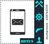 smartphone email or sms icon...