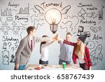 young european team members hi... | Shutterstock . vector #658767439