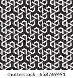 Monochrome Seamless Pattern Of...