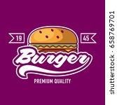 burger logo | Shutterstock .eps vector #658769701