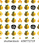 be happy seamless pattern with... | Shutterstock .eps vector #658772719