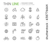 collection of ecology thin line ... | Shutterstock .eps vector #658776664