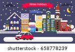 cool concept for winter... | Shutterstock .eps vector #658778239