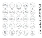 set of men's footwear icons ... | Shutterstock .eps vector #658778341