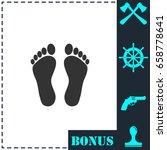 footprint icon flat. simple...