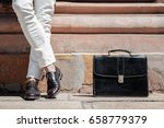 stylish male person wearing... | Shutterstock . vector #658779379