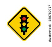 isolated yellow transit signal... | Shutterstock .eps vector #658780717