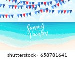 blue and bright turquoise sea ...   Shutterstock .eps vector #658781641