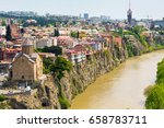 panoramic skyline with old... | Shutterstock . vector #658783711