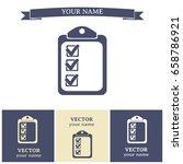vector checklist icon | Shutterstock .eps vector #658786921