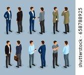 a set of men in isometric 3d... | Shutterstock .eps vector #658788925