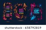 futuristic frame art design... | Shutterstock .eps vector #658792819
