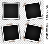 set of retro photo frames with... | Shutterstock .eps vector #658793731