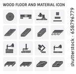 wood floor and material vector... | Shutterstock .eps vector #658796779