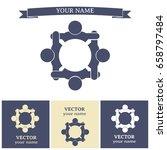 vector group of people  team... | Shutterstock .eps vector #658797484