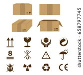 set of icon and cardboard for... | Shutterstock .eps vector #658797745