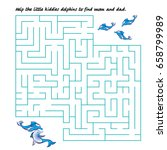 dolphins maze. dolphins kids... | Shutterstock .eps vector #658799989