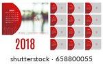 vector of calendar 2018 year ... | Shutterstock .eps vector #658800055