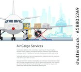 air cargo services and freight  ... | Shutterstock .eps vector #658805269