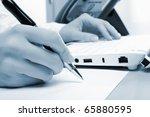 hands of a young girl running... | Shutterstock . vector #65880595