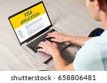 man doing electronic... | Shutterstock . vector #658806481