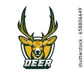deer head animal mascot vector... | Shutterstock .eps vector #658806649