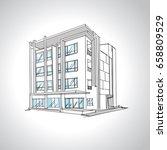 sketch of  modern house... | Shutterstock .eps vector #658809529