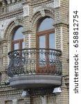 old vintage balcony  | Shutterstock . vector #658812754