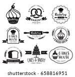 bakery shop logo.vector... | Shutterstock .eps vector #658816951
