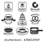 bakery shop logo.vector... | Shutterstock .eps vector #658816969