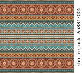 abstract ethnic stripe pattern  ... | Shutterstock .eps vector #658817005