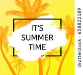 summer time background. vector... | Shutterstock .eps vector #658822189