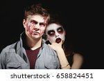 young people in color contact... | Shutterstock . vector #658824451