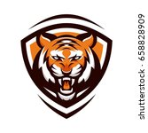 tiger animal mascot head vector ... | Shutterstock .eps vector #658828909