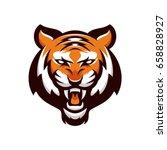 tiger animal mascot head vector ... | Shutterstock .eps vector #658828927