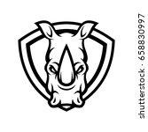Rhino Rhinoceros Animal Mascot...