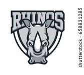 rhino rhinoceros animal mascot...   Shutterstock .eps vector #658831285