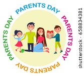 banner dedicated to parents'... | Shutterstock .eps vector #658834381