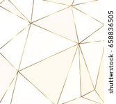 gold glitter triangles.... | Shutterstock .eps vector #658836505